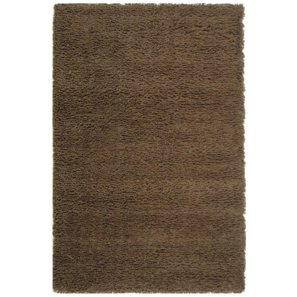 Classic Shag Chocolate 9 ft. 6 in. x 13 ft. 6