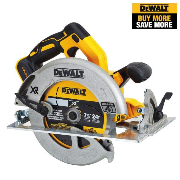 20-Volt MAX Lithium-Ion Cordless Brushless 7-1/4 in. Circular Saw with Brake (Tool-Only)