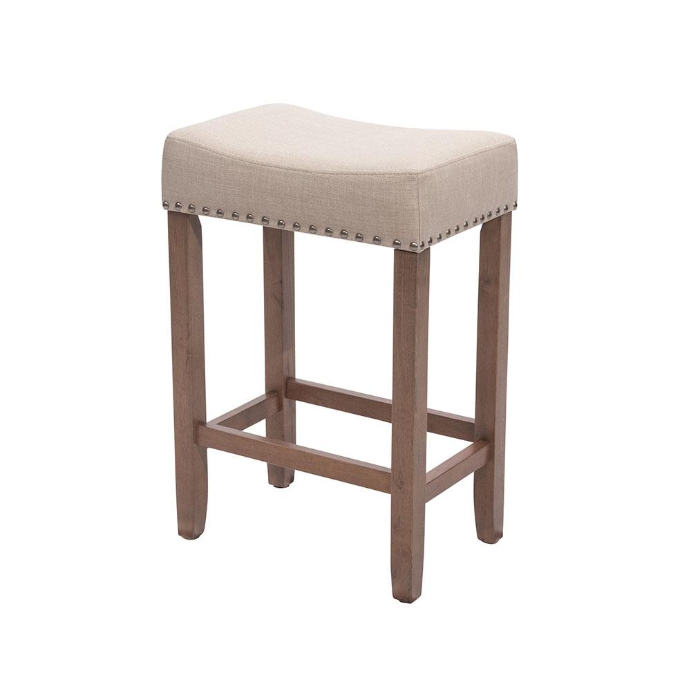 Linon Home Decor Brook 24 In Red Cushioned Bar Stool