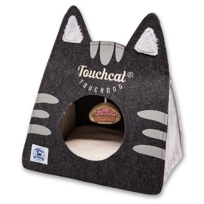 62af5d92adc Black Kitty Ears Travel On-The-Go Collapsible Folding Cat Pet House Bed
