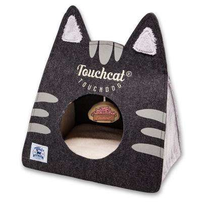 Black Kitty Ears Travel On-The-Go Collapsible Folding Cat Pet House Bed