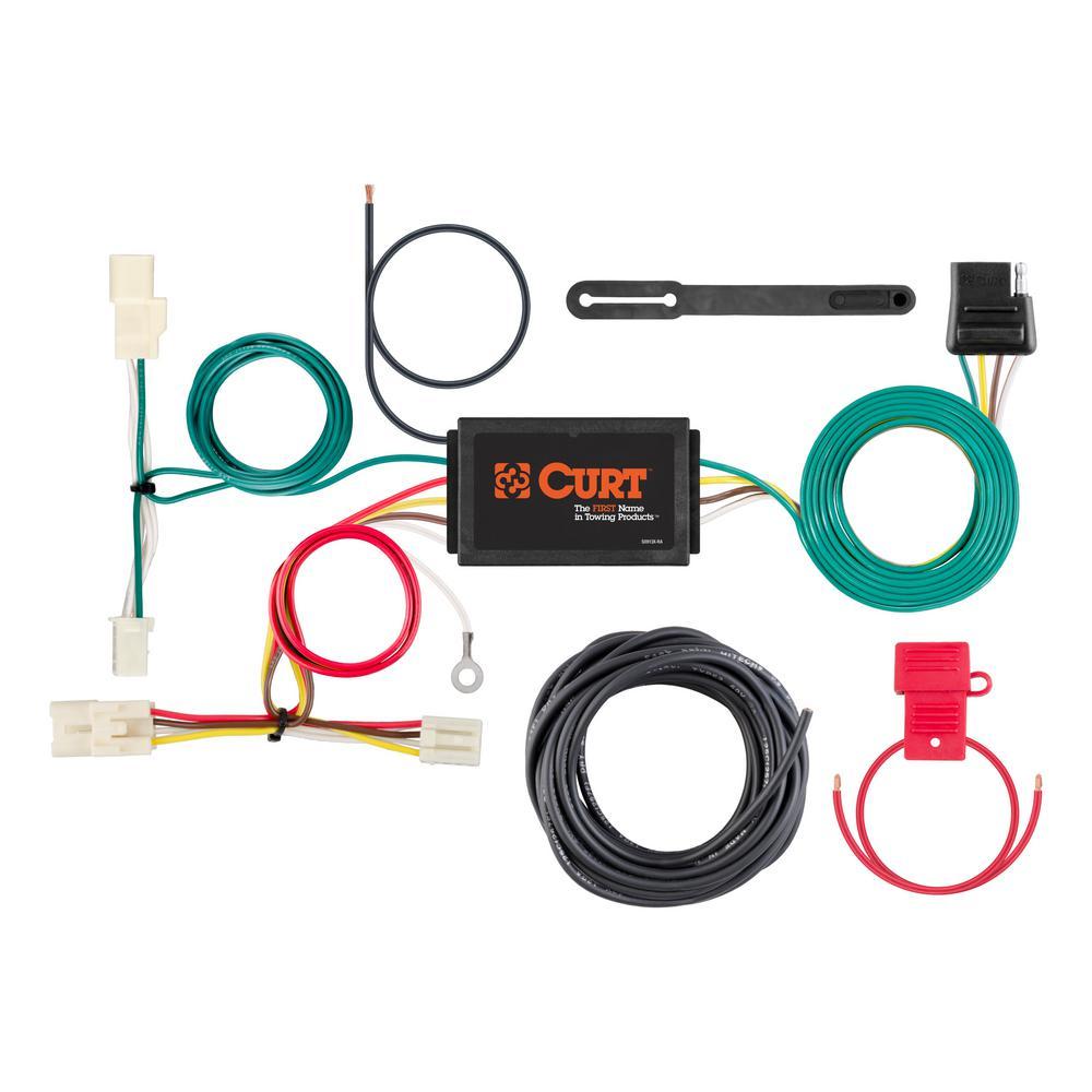 Curt Custom Wiring Harness  4-way Flat Output -56314