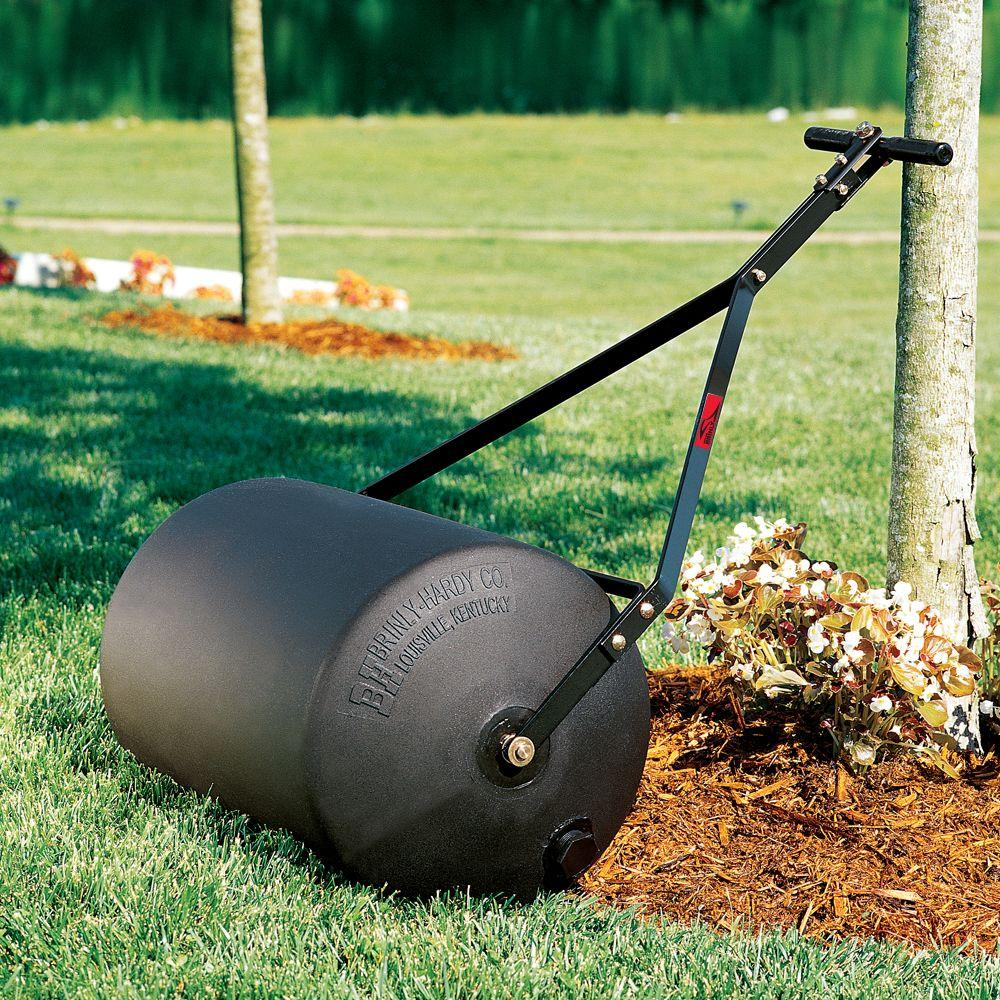 G Poly Push//Tow Lawn Roller Heavy Duty Poly Roller Filled W//Water 16-Inch by 19.5-Inch