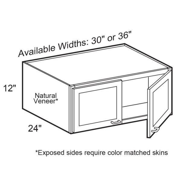 Home Decorators Collection Roxbury Assembled 36 X 12 X 24 In Plywood Mitered Deep Wall Kitchen Cabinet Soft Close In Stained Manganite W362412 Rmg The Home Depot