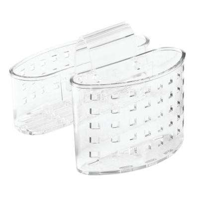 Saddlebag Flatware Organizer and Sponge Holder in Clear