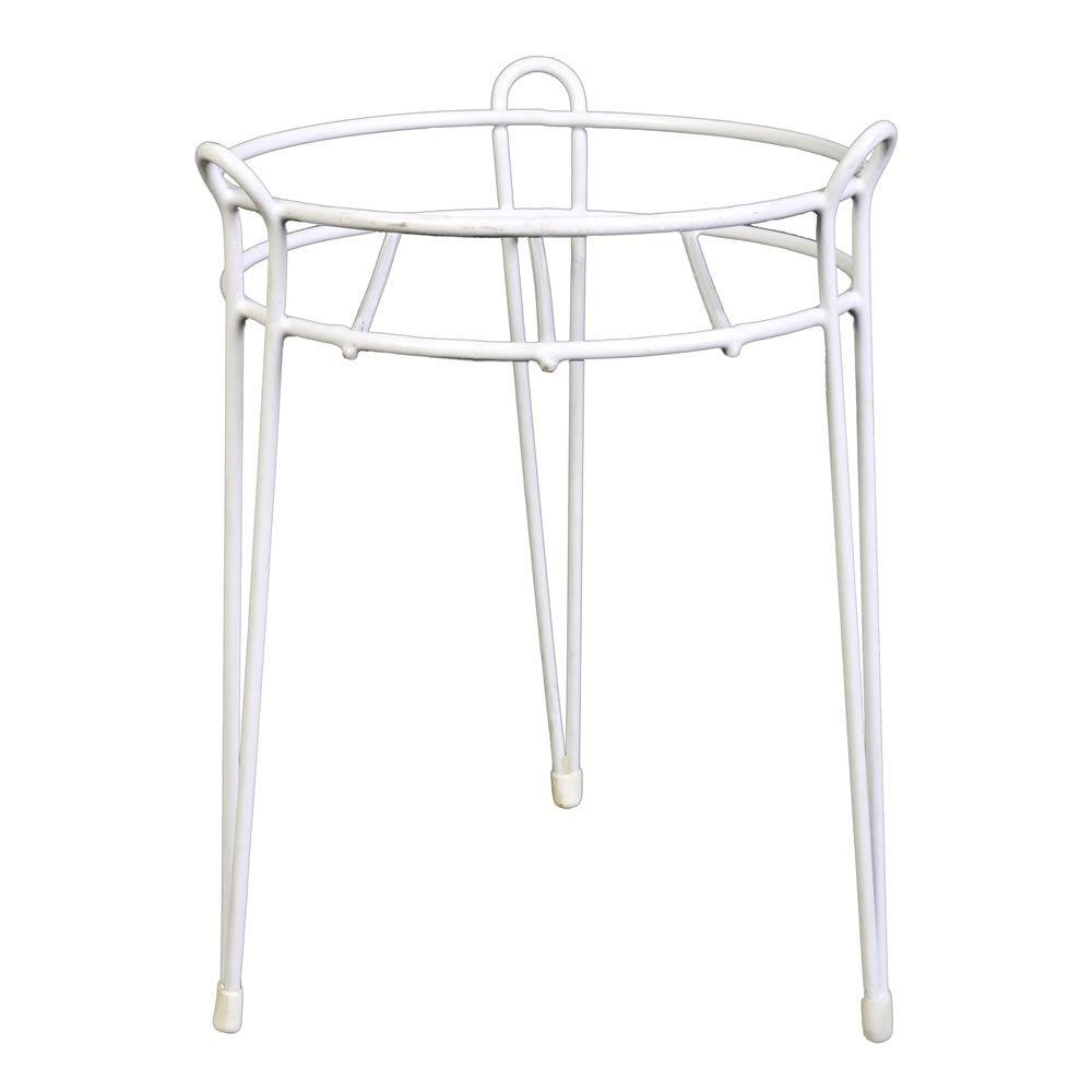 15 in. White Basic Metal Plant Stand