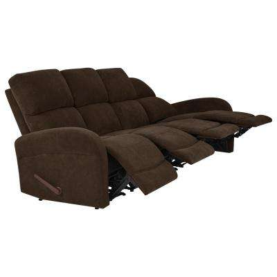 Chocolate Brown Chenille 4-Seat Recliner Sofa