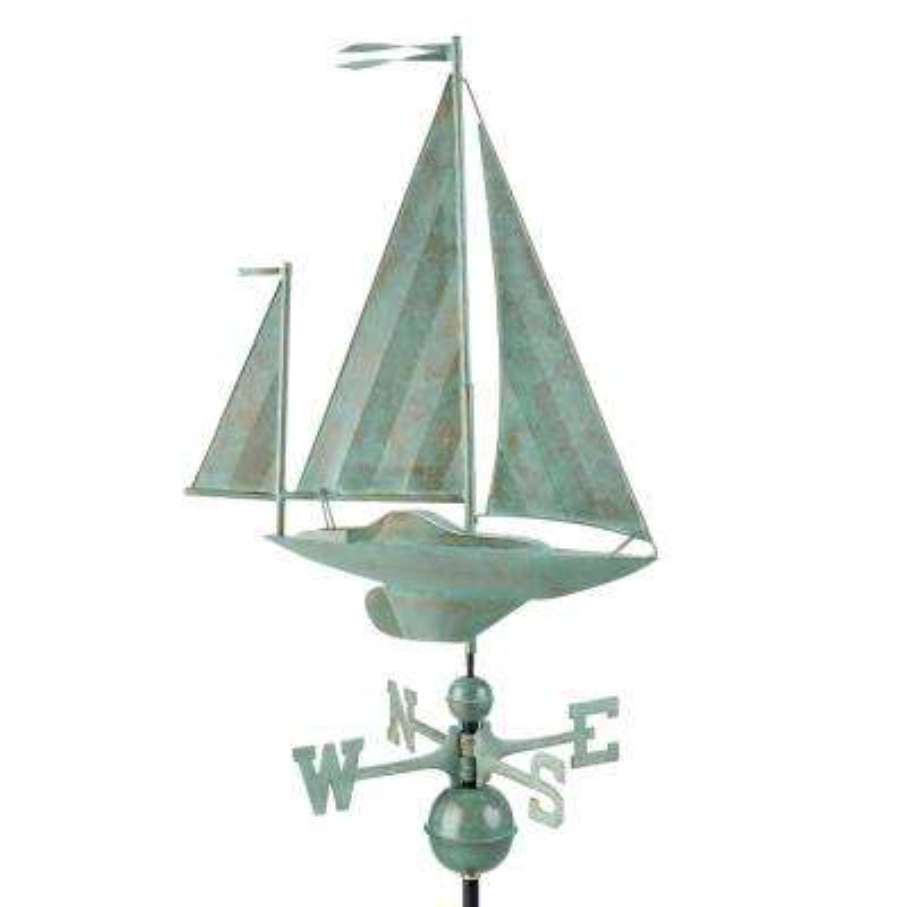Yawl Weathervane - Blue Verde Copper