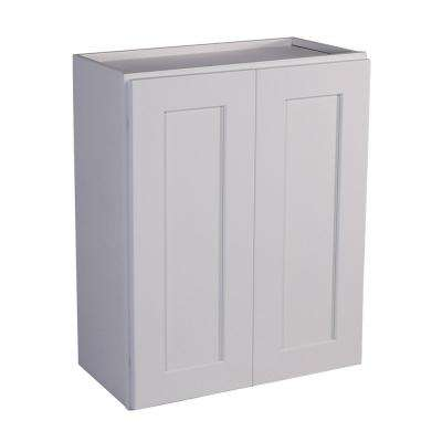 Brookings Fully Assembled 24x30x12 in. Shaker Style Kitchen Tall Wall Cabinet 2-Door in White
