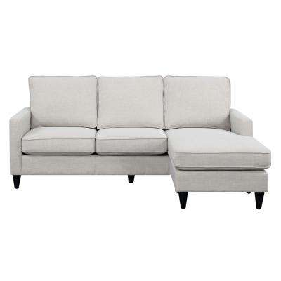 Nori Reversible Taupe Chaise Sectional