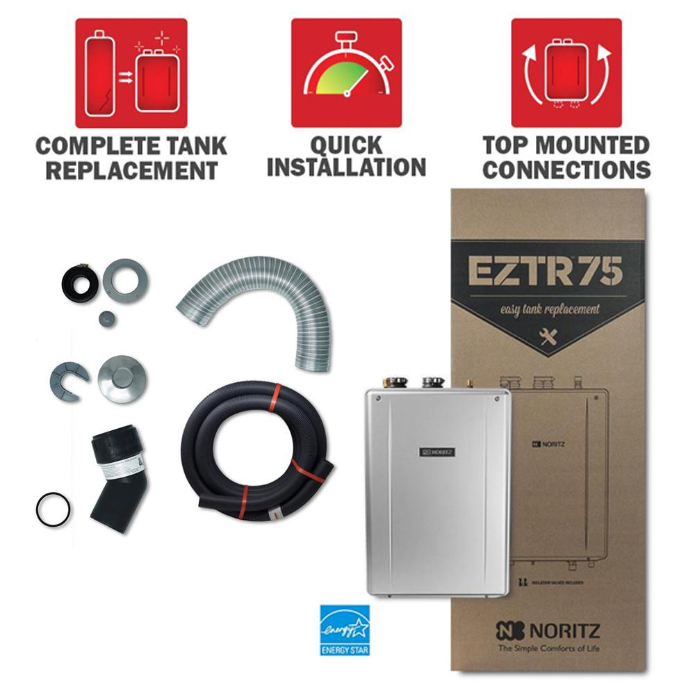 Noritz 75 Gal. Residential Tank Replacement Natural Gas Hi-Efficiency Indoor Tankless Water Heater