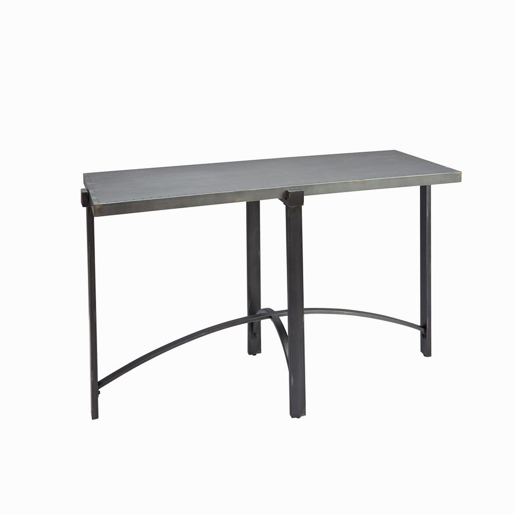 Lewis Bronze With Metal Top Console Table