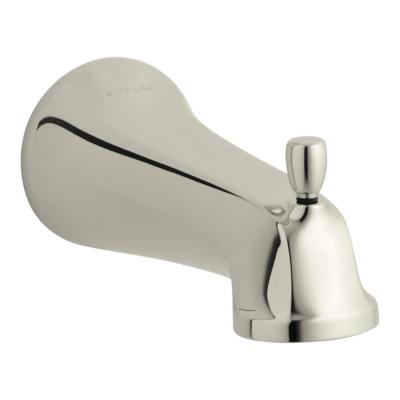 Bancroft 6-5/8 in. Wall Mount Bath Spout in Vibrant Polished Nickel
