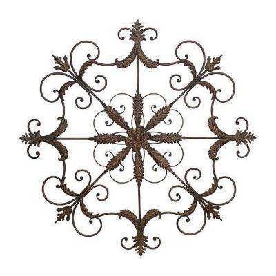 Iron Scrolled Wall Plaque