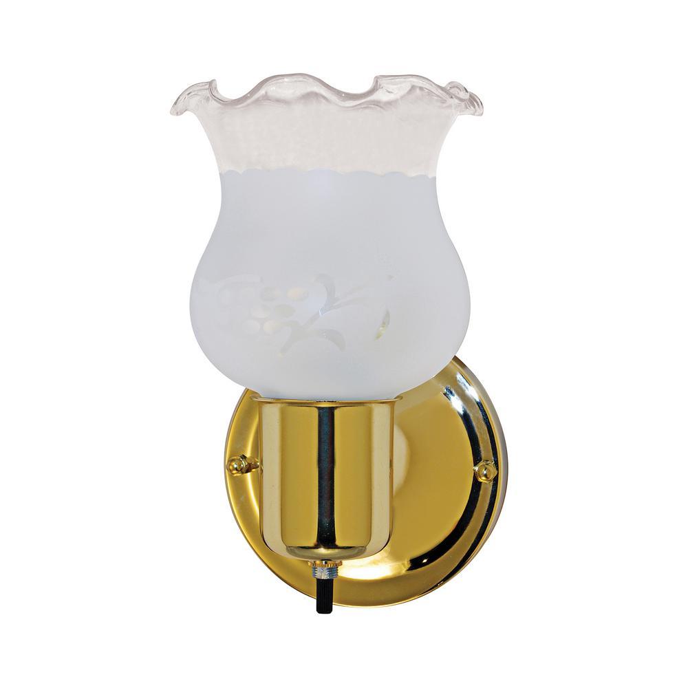 Tony 1-Light Polished Brass Sconce