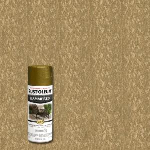 12 oz. Gold Protective Enamel Hammered Spray Paint
