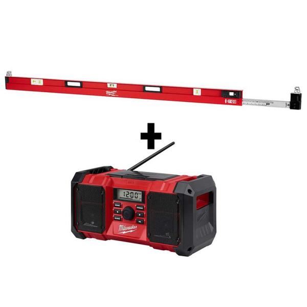 78 in. to 144 in. REDSTICK Expandable Box Level W/ M18 Jobsite Radio