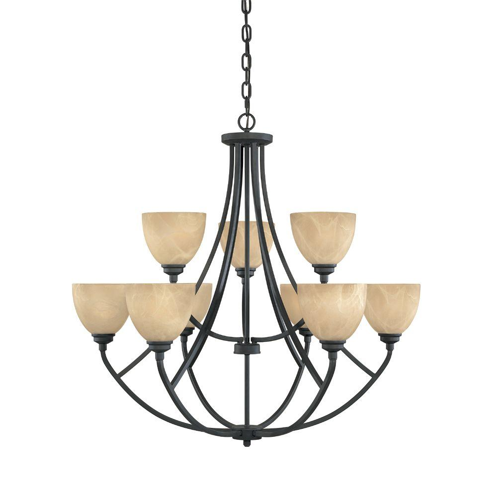Designers fountain manhattan 9 light burnished bronze hanging designers fountain manhattan 9 light burnished bronze hanging chandelier aloadofball Choice Image