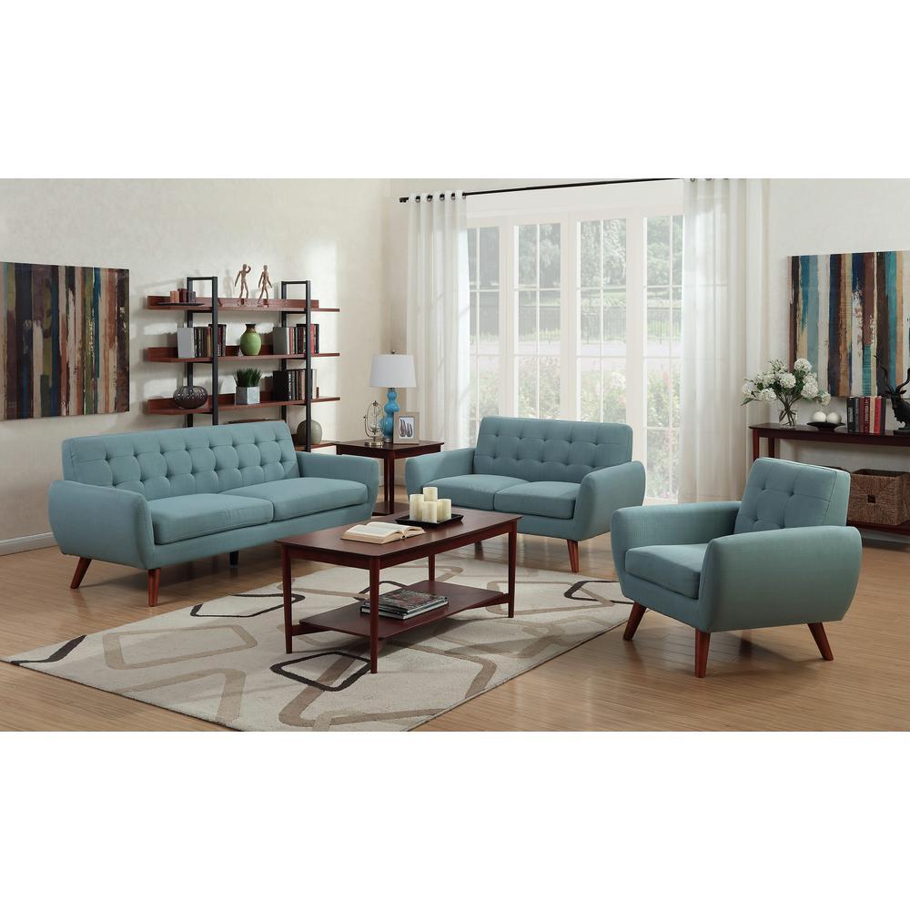 Daphne Teal Mid-Century Modern Sofa