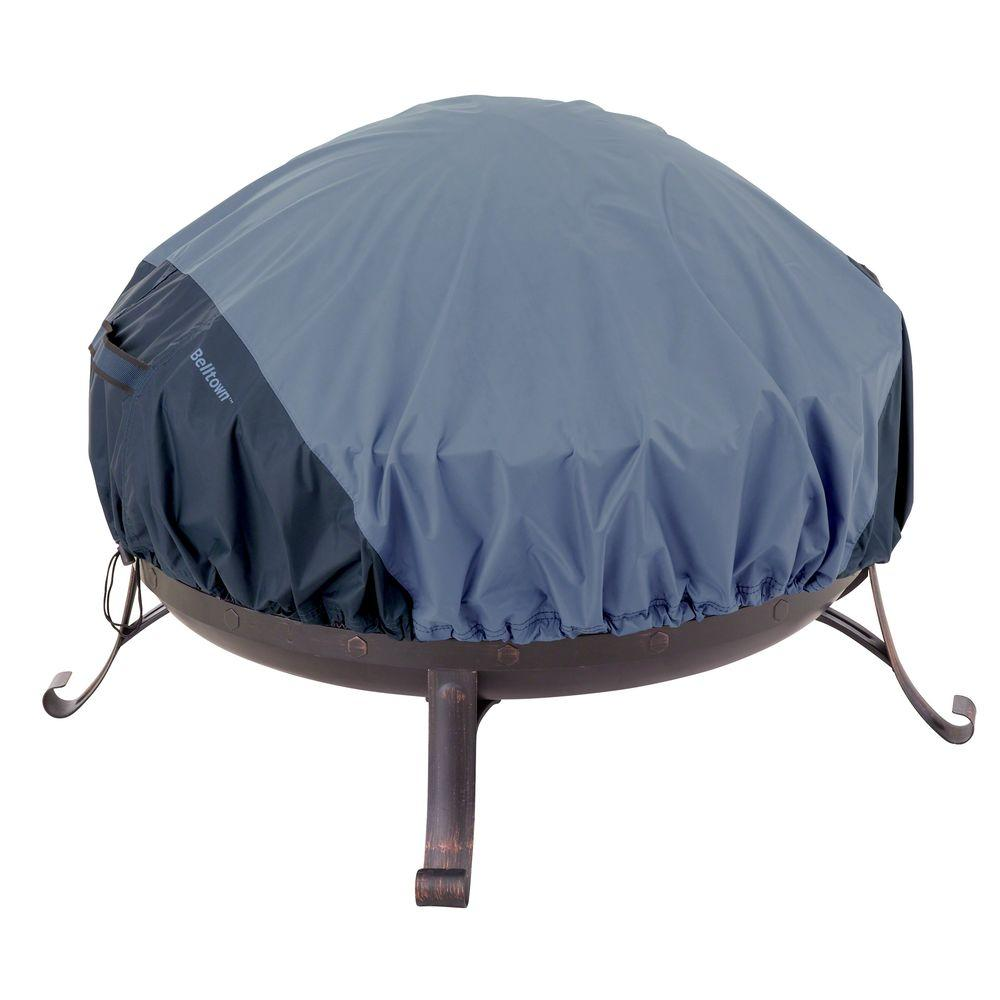 Classic Accessories Belltown 44 in. Skyline Blue Round Patio Fire Pit Cover