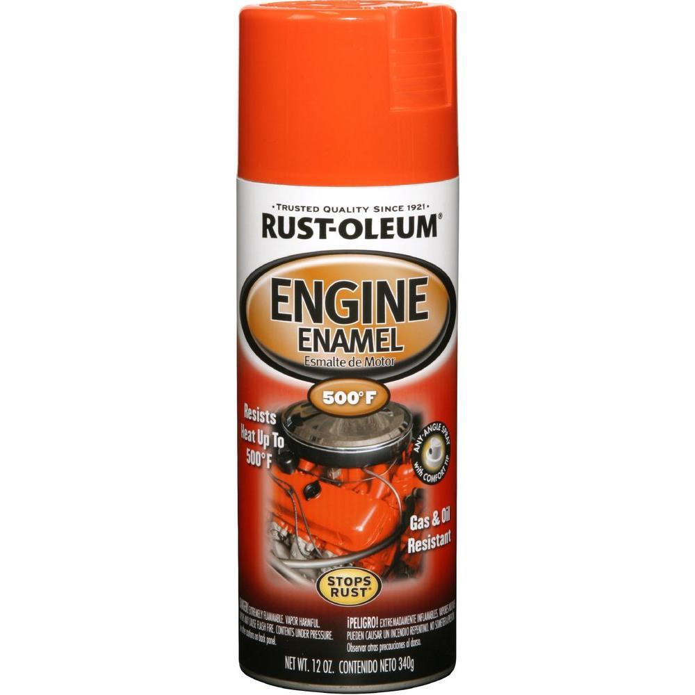 Gloss Chevy Orange Engine Enamel Spray Paint 6