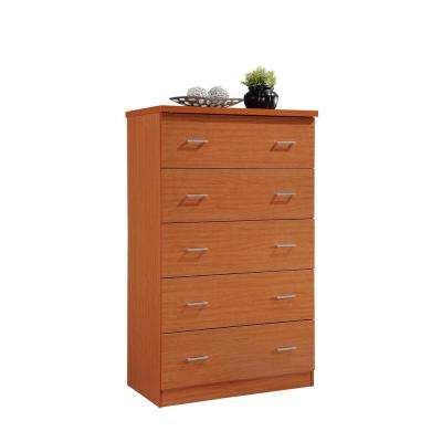 5-Drawer Cherry Jumbo Chest