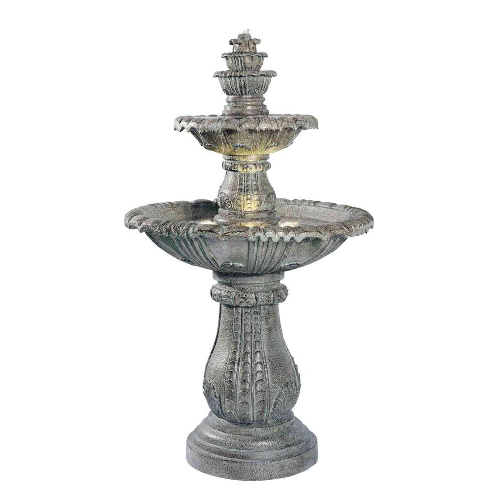Kenroy Home Venetian Lighted Outdoor Fountain-02254 - The Home Depot