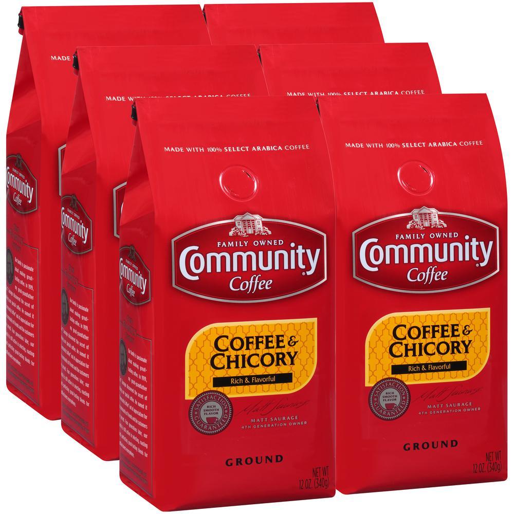 12 oz. Coffee and Chicory Medium-Dark Roast Premium Ground Coffee (4-Pack)