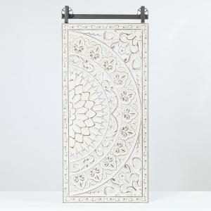 Winsome House Decorative Carved Floral Patterned Mdf Wood Wall Art Set Of 2 Wha530 The Home Depot