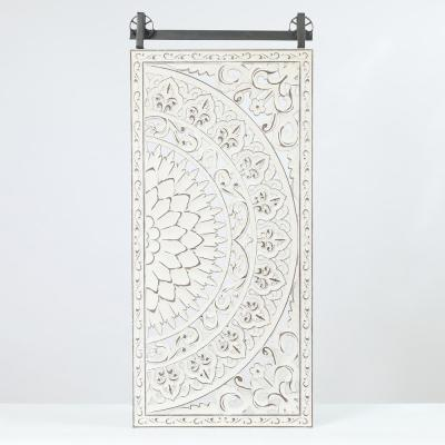Decorative Carved Floral-Patterned MDF Wood Wall Art (Set of 2)