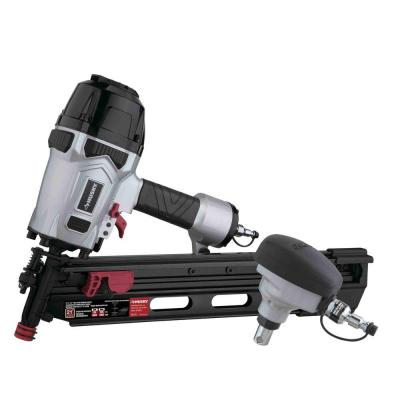 Pneumatic 21-Degree 3-1/2 in. Full Round Head Framing Nailer and Pneumatic Mini Palm Nailer Kit with Nails