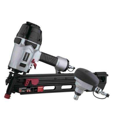 "Pneumatic 21-Degree 3-1/2"" Full Round Head Framing Nailer and Pneumatic Mini Palm Nailer Kit with Nails"