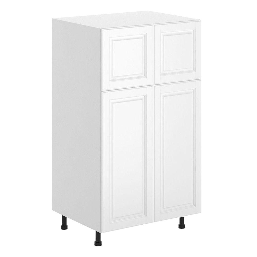 Fabritec Birmingham Ready To Assemble 30 X 49 X 24 5 In Pantry Utility Cabinet In White