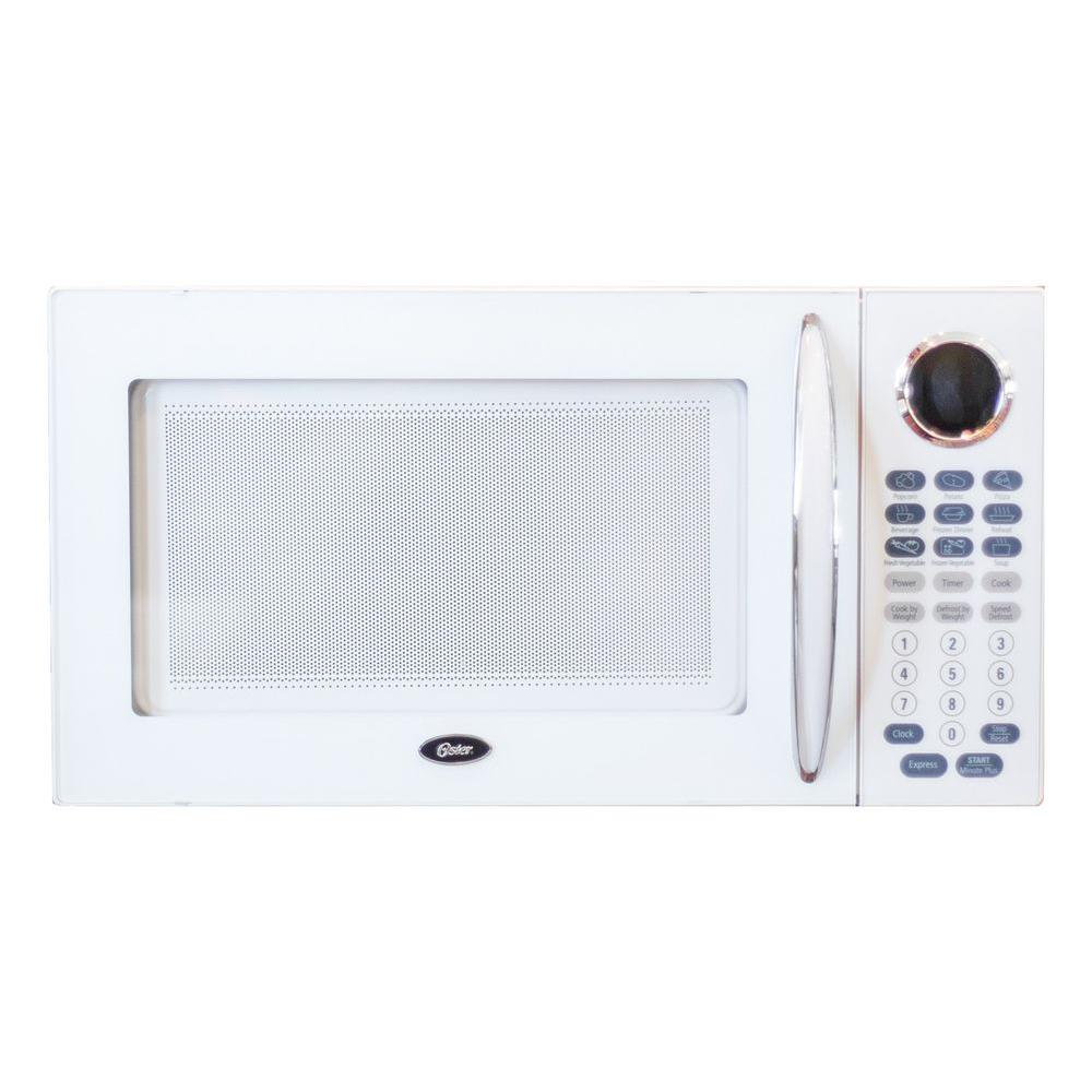 Oster 1.1 cu. ft. 1000-Watt Countertop Microwave in White