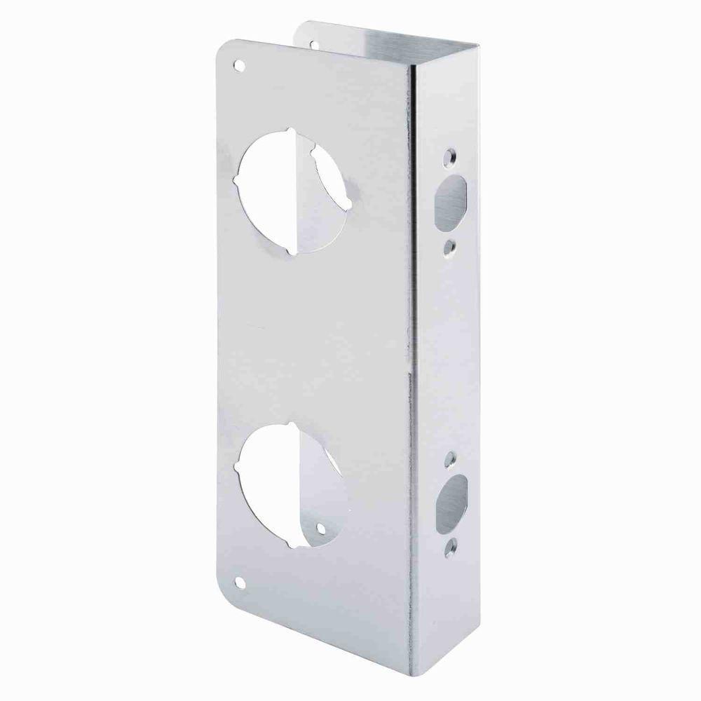 Double Bore Stainless Steel Door Reinforcer with 2-  sc 1 st  The Home Depot & Lock u0026 Door Reinforcer - Door Security - Door Hardware - The Home Depot