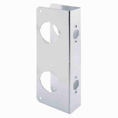 2-1/8 in. Double Bore Stainless Steel Door Reinforcer with 2-3/8 in. Backset