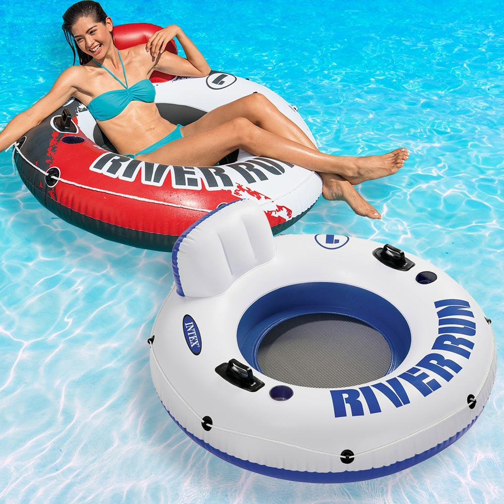 Intex Red River Run 1 Fire Edition and Classic Pool Float Combo Pack