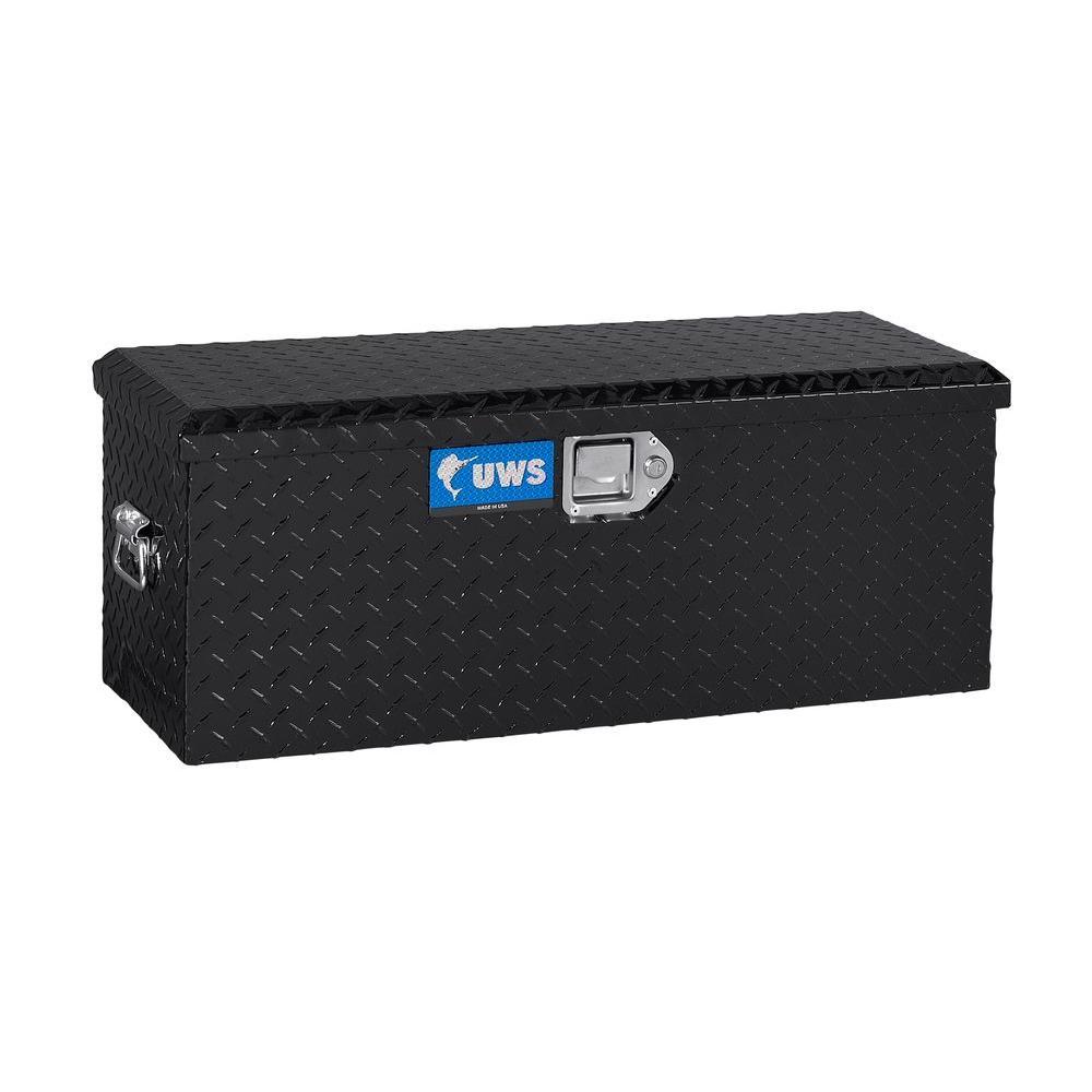 Small Truck Tool Box >> Uws 32 87 In Gloss Black Aluminum Full Size Chest Truck Tool Box