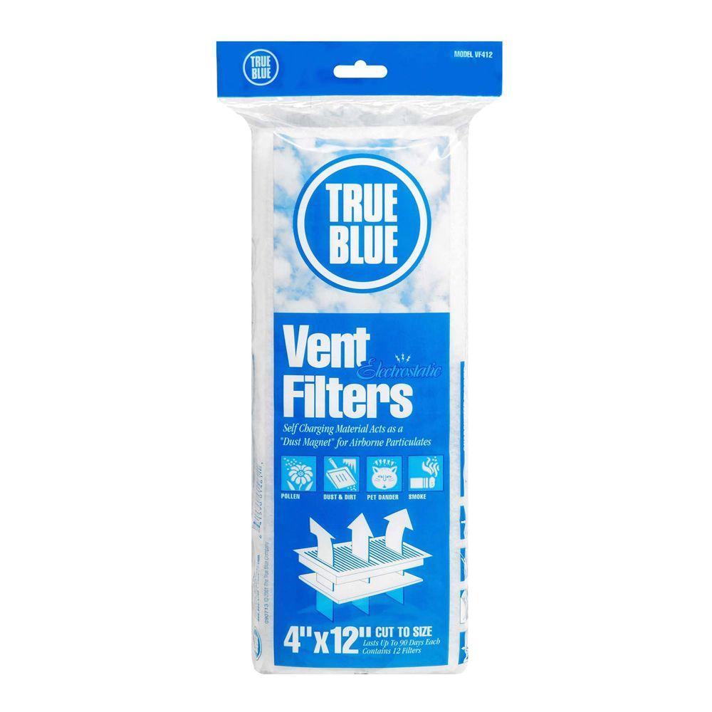 True Blue 12 in. x 4 in. Electrostatic FPR 2 Vent Filter