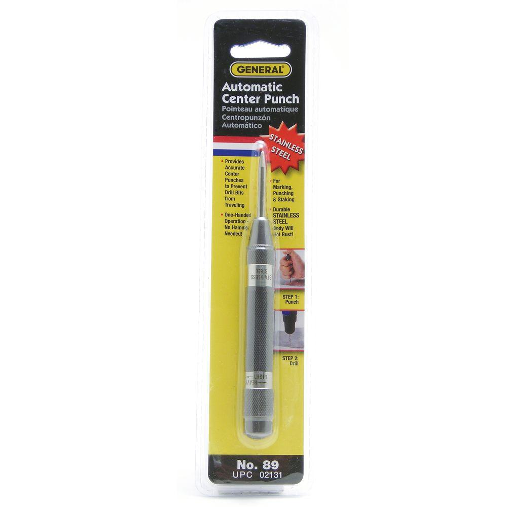 General Tools 89 Stainless Steel Automatic Center Punch with Adjustable Stroke