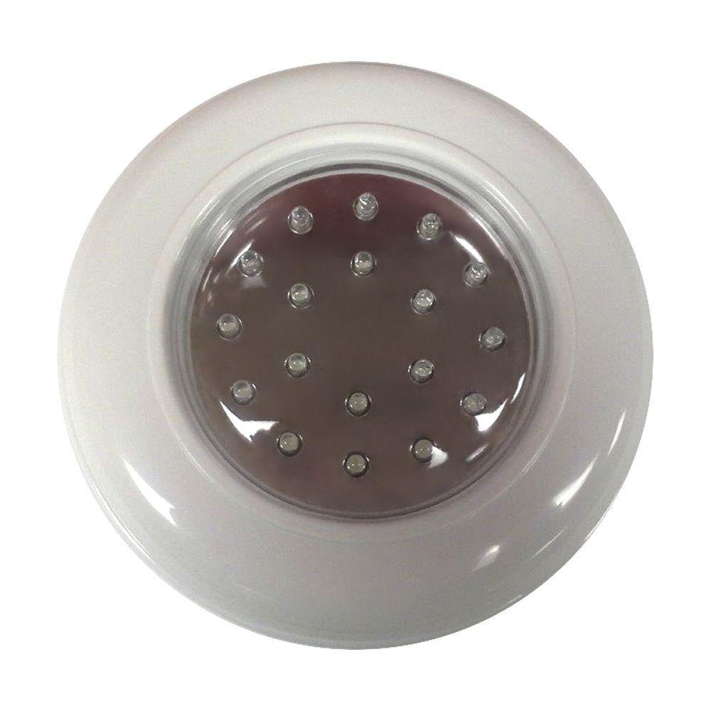 1-Light White Cordless Flushmount
