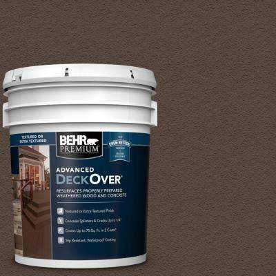 5 gal. #SC-105 Padre Brown Textured Solid Color Exterior Wood and Concrete Coating