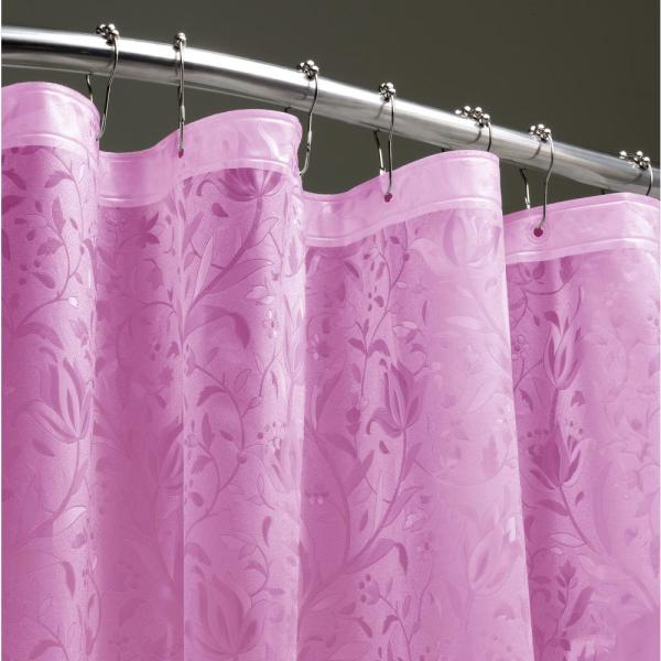 Dainty Home Floral 72 in. Pink 3D Shower Curtain FL3DPI