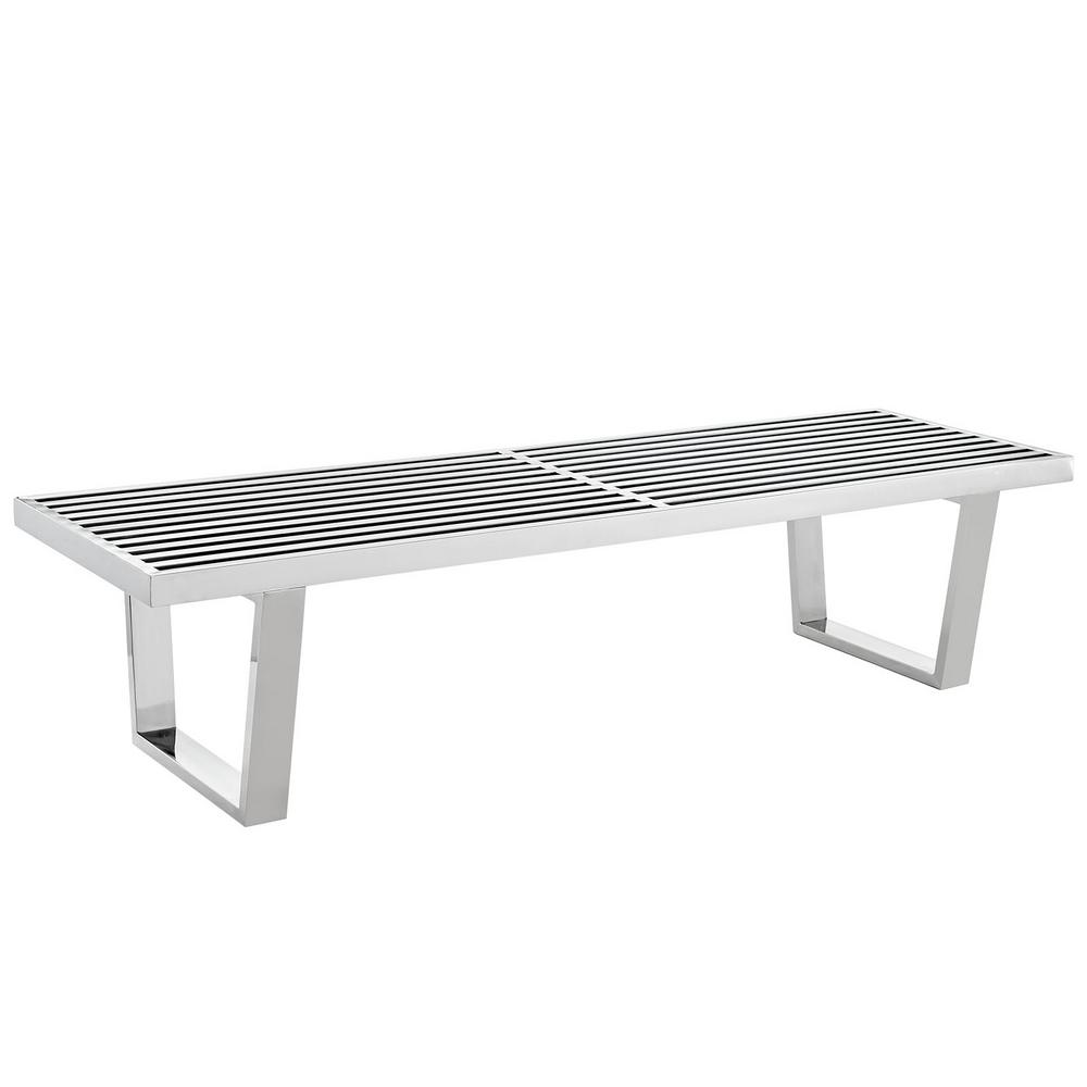 MODWAY Sauna Ft Stainless Steel Bench In SilverEEISLV The - 5 ft stainless steel table