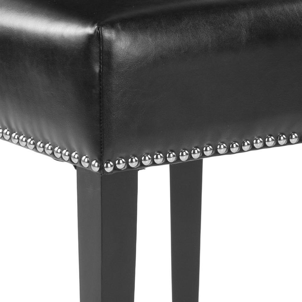 Cool Safavieh Jappic Black Espresso Bicast Leather Side Chair Inzonedesignstudio Interior Chair Design Inzonedesignstudiocom