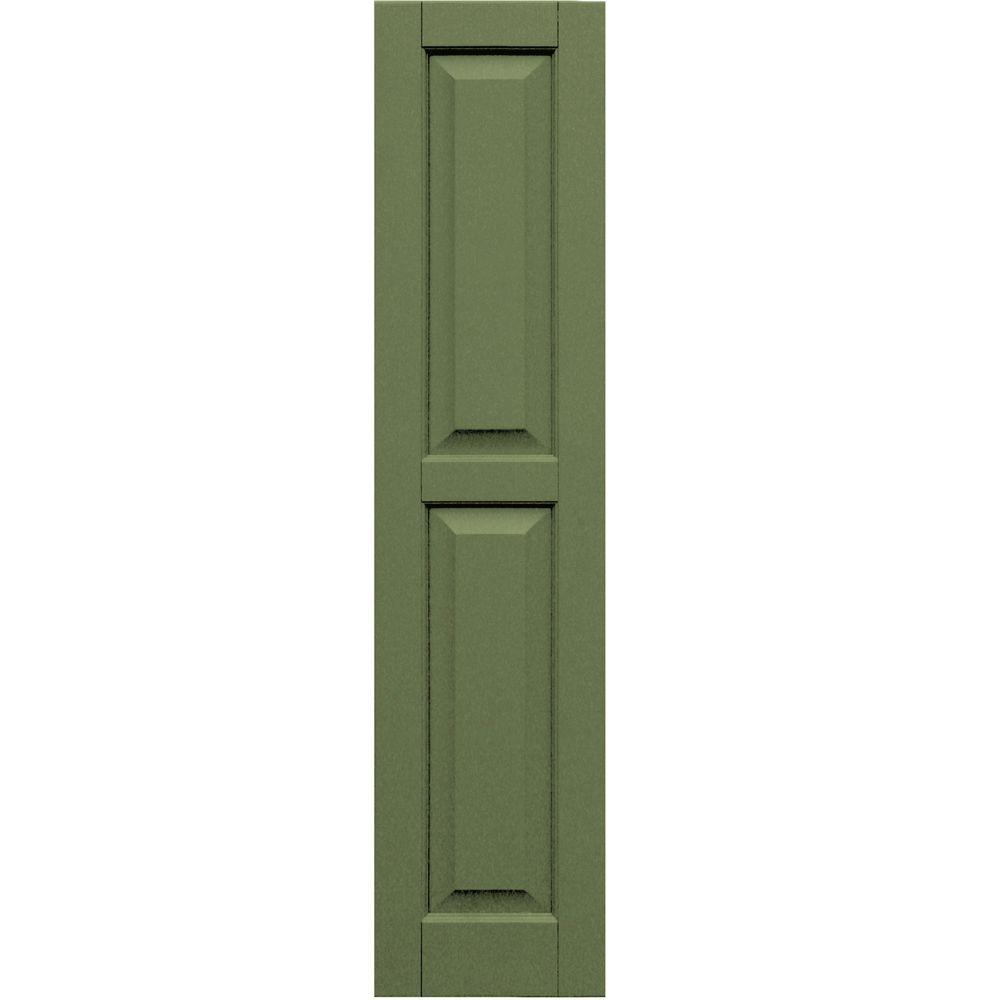 Winworks Wood Composite 12 in. x 52 in. Raised Panel Shutters Pair #660 Weathered Shingle