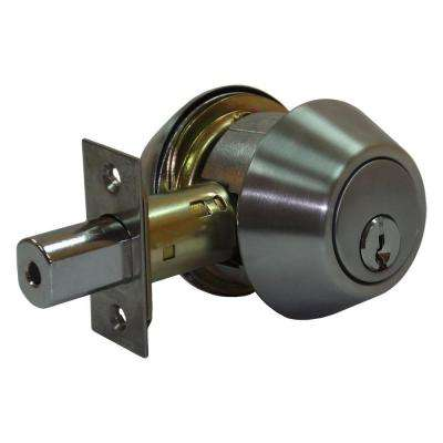 Double Cylinder Satin Chrome Deadbolt