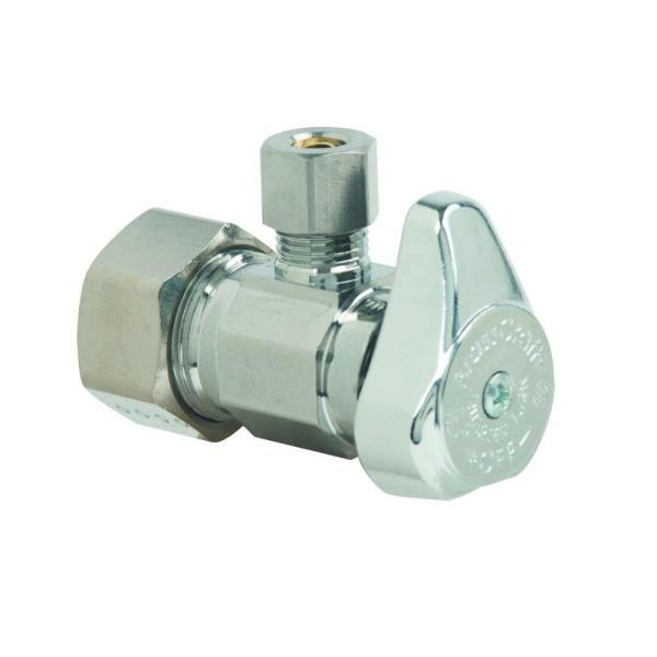 1/2 in. Compression Inlet x 1/4 in. Compression Outlet 1/4-Turn Angle Valve