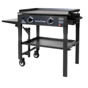 Blackstone 28 inch 2-Burner Propane Gas Grill in Black with Griddle Top by Blackstone