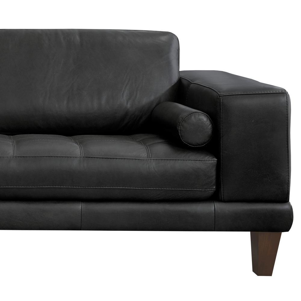 Armen Living Armen Living Genuine Black Leather Contemporary ...